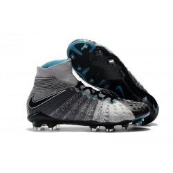 Crampons de Foot Nike HyperVenom Phantom III DF FG - Gris Noir