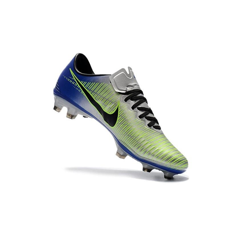 Nike Mercurial Vapor XI FG ACC Chaussures Argent Noir