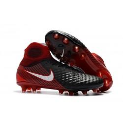 Nike Magista Obra II DF FG Crampon de Football - Noir Rouge