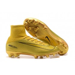 Chaussure Nouvelles Nike Mercurial Superfly 5 CR7 FG - Or