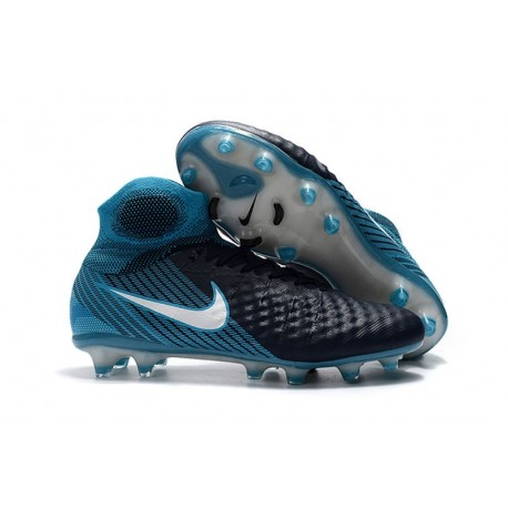Nike Magista Obra II DF FG Crampon de Football - Noir Bleu