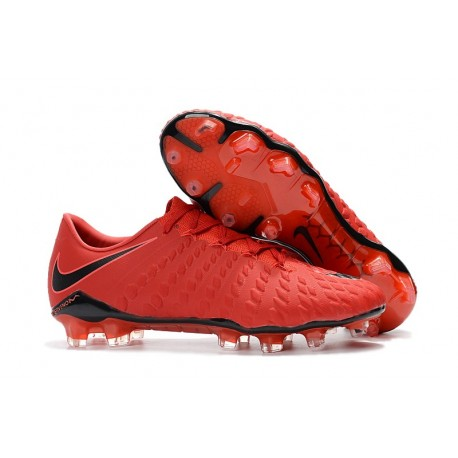 Nike Hypervenom Phantom III FG ACC Crampons de Football - Rouge Noir