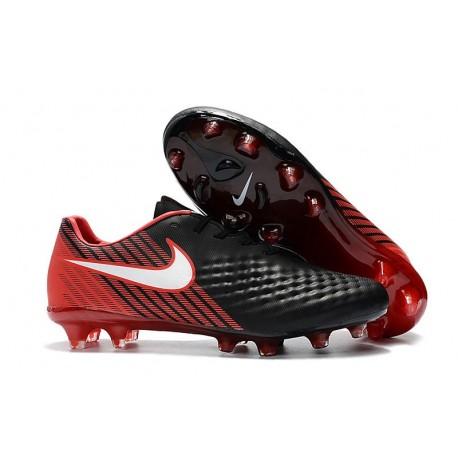 Nike Chaussure Foot Magista Opus II FG Homme Noir Rouge