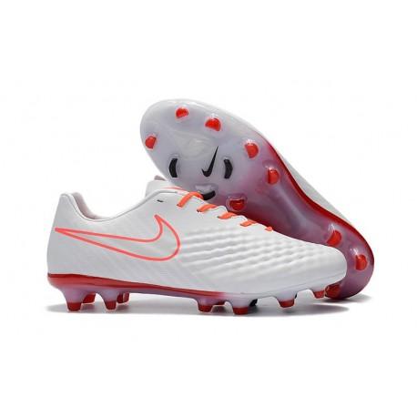 Nike Chaussure Foot Magista Opus II FG Homme Blanc Orange