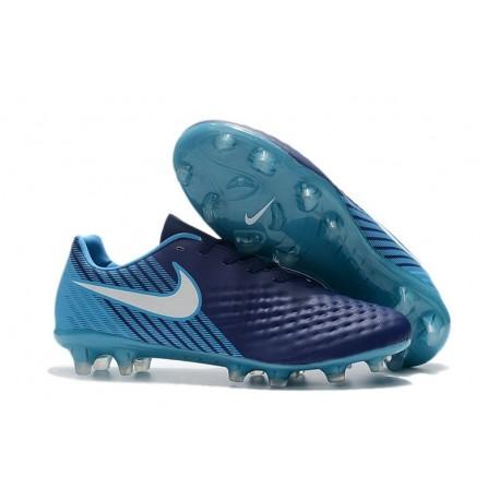 Nike Chaussure Foot Magista Opus II FG Homme Bleu Blanc