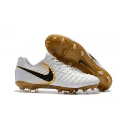 Chaussures Nouvel Nike Tiempo Legend VII FG ACC - Blanc Or