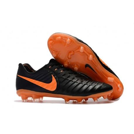 Chaussures Nouvel Nike Tiempo Legend VII FG ACC - Noir Orange