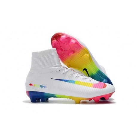 Chaussure Nouvelles Nike Mercurial Superfly 5 FG - Blanc Coloré