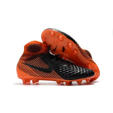 Nike Magista Obra II DF FG Crampon de Football - Noir Orange