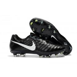 Nike Tiempo Legend 7 FG Crampons de Football Homme - Noir Blanc