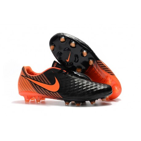Nike Magista Opus 2 FG Crampons de Football - Noir Orange