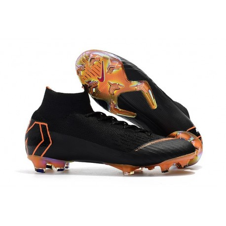 Nike Mercurial Superfly VI 360 Elite FG Chaussures - Noir Orange