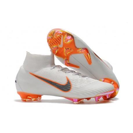 Nike Mercurial Superfly VI 360 Elite FG Chaussures - White Orange Grey