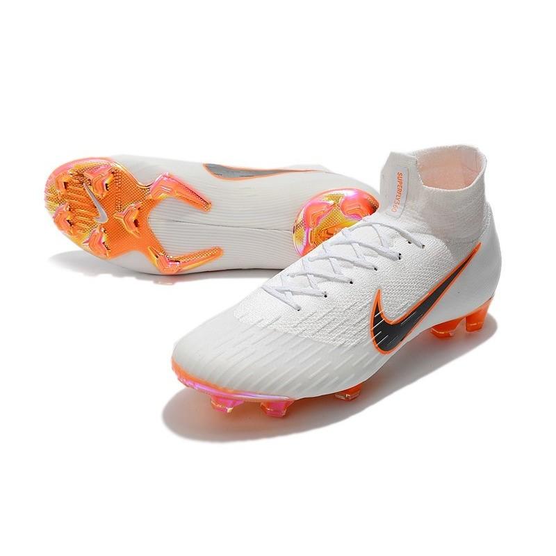 2ddba695ed4 Nike Mercurial Superfly VI 360 Elite FG Chaussures - White Orange Grey  Zoom. Précédent · Suivant