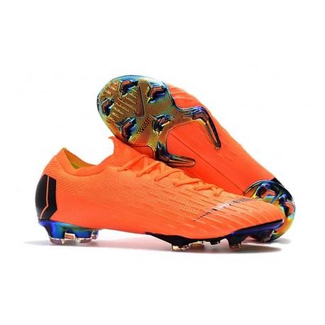 Coupe du Monde 2018 Crampons Nike Mercurial Vapor XII FG - Orange Noir