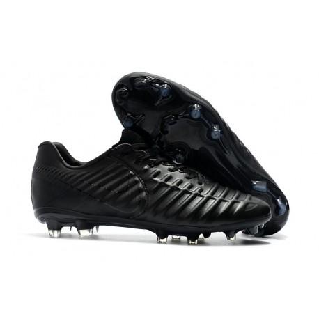 Nike Tiempo Legend 7 FG Crampons de Football Homme - Tout Noir