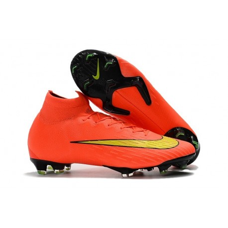 Nike Mercurial Superfly VI 360 Elite FG Chaussures - Orange Noir