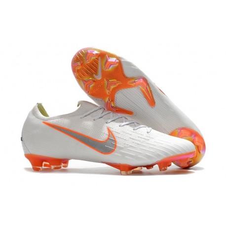 Coupe du Monde 2018 Crampons Nike Mercurial Vapor XII FG - Blanc Orange