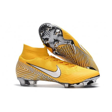Nike Mercurial Superfly VI 360 Elite FG Neymar Chaussures - Jaune