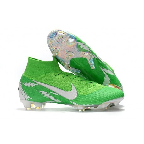 Nike Mercurial Superfly VI 360 Elite FG Chaussures - Vert Argent