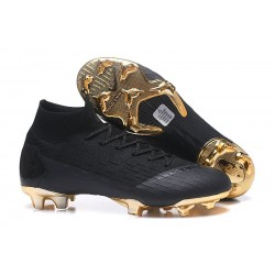 Nike Crampons Football Mercurial Superfly 6 Elite CR7 FG - Noir Or