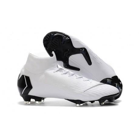 Nike Crampons Football Mercurial Superfly 6 Elite CR7 FG - Blanc Noir