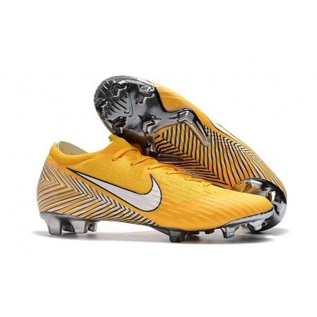 Coupe du Monde 2018 Neymar Crampons Nike Mercurial Vapor XII FG - Jaune