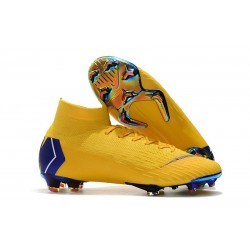 Nike Crampons Football Mercurial Superfly 6 Elite CR7 FG - Jaune Bleu