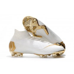 Nike Crampons Football Mercurial Superfly 6 Elite CR7 FG - Blanc Or