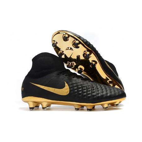 Nike Magista Obra II DF FG Crampon de Football - Noir Or