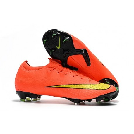 Nike Mercurial Vapor 12 Elite FG Chaussure de Football - Orange Jaune