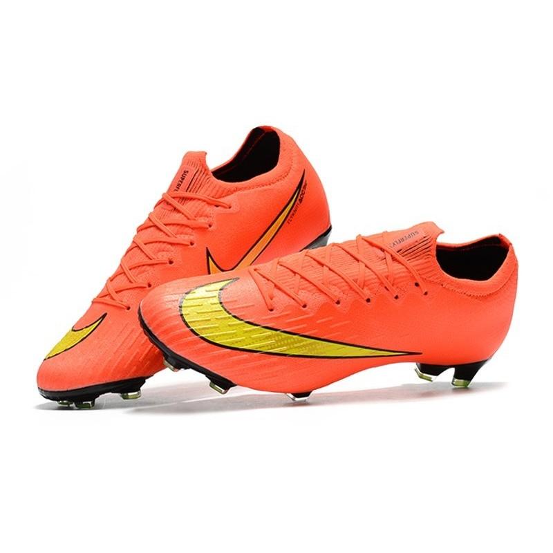 competitive price 27cb4 d4bf1 Nike Mercurial Vapor 12 Elite FG Chaussure de Football - Orange Jaune