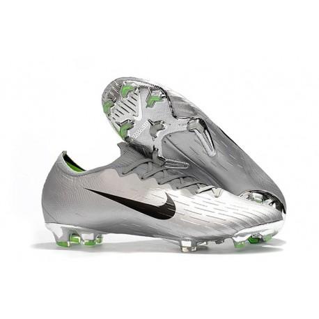 Nike Mercurial Vapor 12 Elite FG Chaussure de Football - Argent Noir