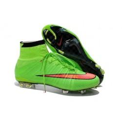 Crampons de Foot Ronaldo Nike Mercurial Superfly FG ACC Vert Rouge