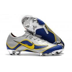 Nike Mercurial Vapor 12 Elite FG Chaussure de Football - Bleu Argent Noir