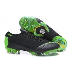Nike Mercurial Vapor 12 Elite FG Chaussure de Football - Noir Vert