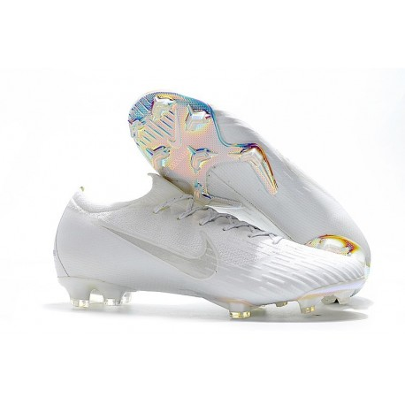 Nike Mercurial Vapor 12 Elite FG Chaussure de Football - Blanc