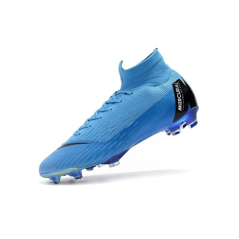 best sneakers 1126e a561c ... promo code for nike mercurial superfly 6 elite fg chaussure bleu noir  zoom. précédent suivant