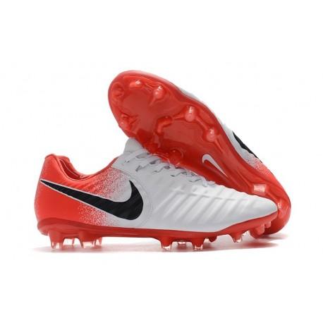 Nike Tiempo Legend 7 FG Crampons de Football Homme - Blanc Rouge