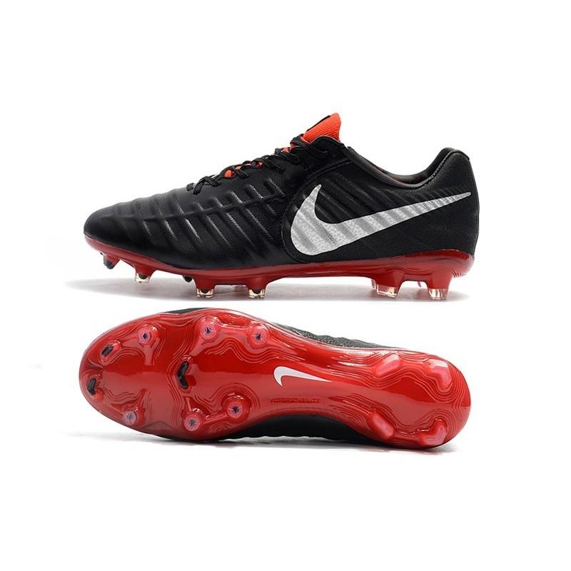 reputable site cad10 b779f Nike Tiempo Legend 7 FG Crampons de Football Homme - Noir Rouge Argent Zoom.  Précédent · Suivant