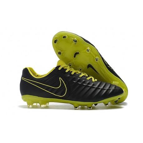 Nike Nouveaux Chaussures Tiempo Legend VII Elite FG - Noir Jaune