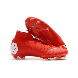 Nike Mercurial Superfly 6 Elite FG Chaussure - Rouge Blanc