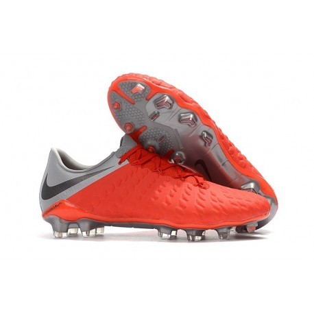 Nike Neuf Chaussure Hypervenom Phantom 3 FG - Rouge Gris