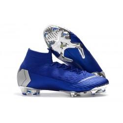 Crampons de Football Nike Mercurial Superfly VI 360 FG - Bleu Argent