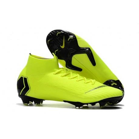 Crampons de Football Nike Mercurial Superfly VI 360 FG - Volt Noir