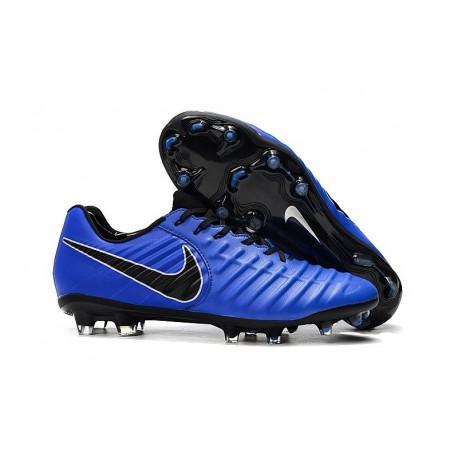 Nike Nouveaux Chaussures Tiempo Legend VII Elite FG - Bleu Noir