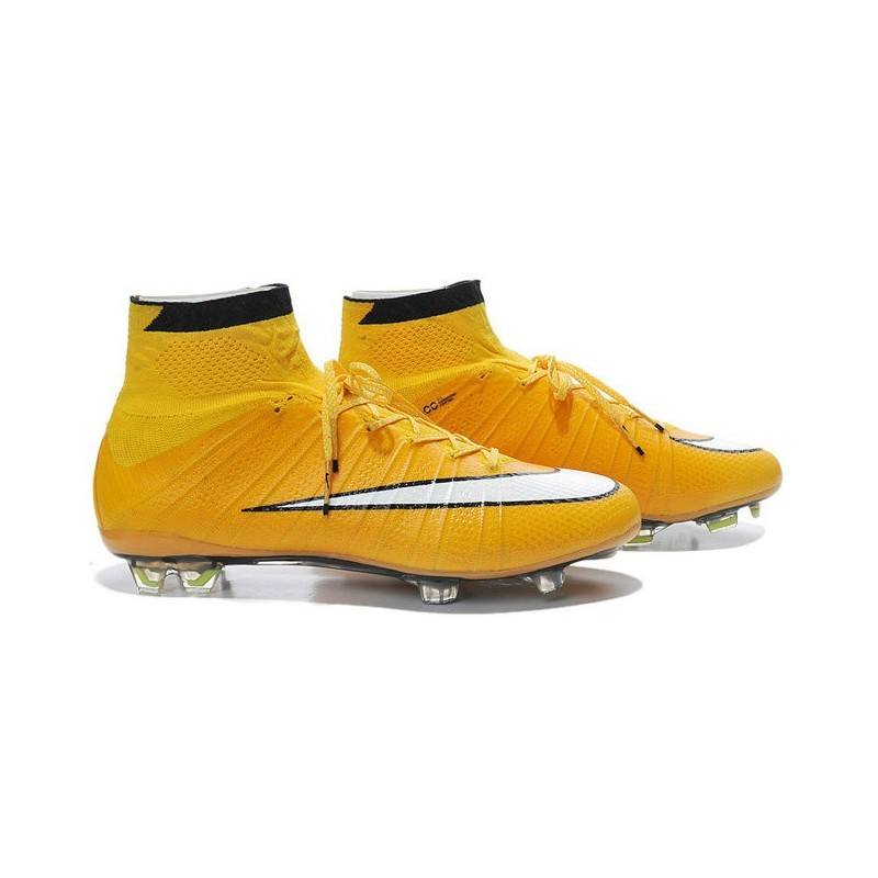 separation shoes 3316e 8615d Nike Mercurial Superfly FG Chaussures Football Jaune Blanc