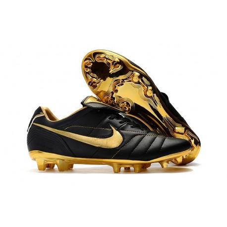 Nike Nouveaux Chaussures Tiempo Legend VII Elite R10 FG - Noir Or