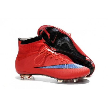 Nike Mercurial Superfly FG Chaussures Football Rouge Violet