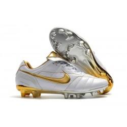 Nike Nouveaux Chaussures Tiempo Legend VII Elite FG - Blanc Or